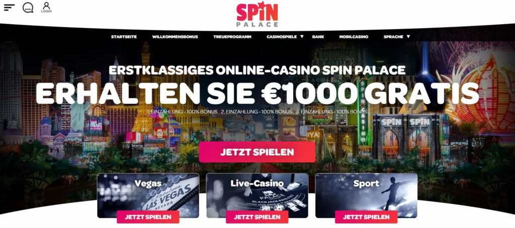 Spin Palace Casino Vorschau
